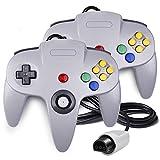QUMOX 2 Jeux de Controleur Joystick Manette pour Nintendo 64 N64 System Gamepad Gris