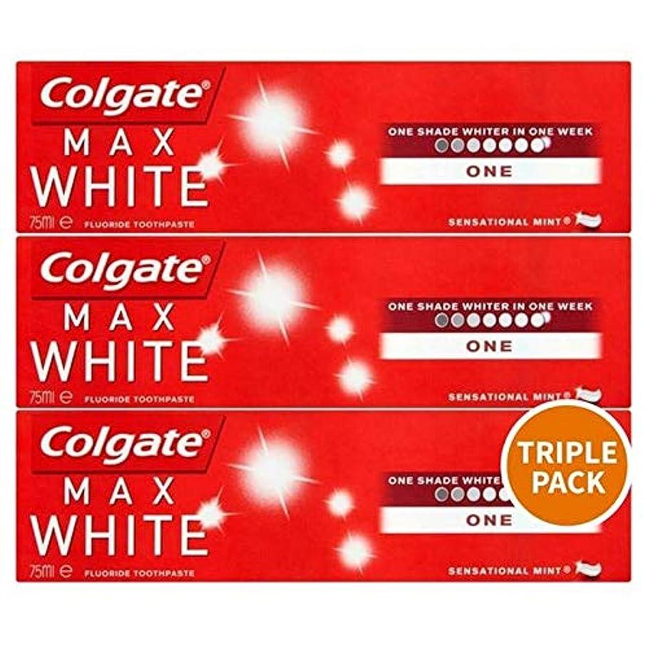 未就学最大限司令官[Colgate ] トリプルパック歯磨き粉3×75ミリリットルをホワイトニングコルゲートマックスホワイト1 - Colgate Max White One Whitening Triple Pack Toothpaste 3 x 75ml [並行輸入品]