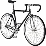 Pure Fix Premium Fixed Gear Single Speed Bicycle, 58cm/ Large, Coolidge Black/Silver