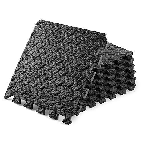Colchoneta de gimnasia Colchoneta de ejercicio-Colchoneta de yoga Colchoneta de suelo 6 pacs Colchoneta de ejercicio con baldosas de espuma EVA Alfombrilla de gimnasia 24 'X24' (60cmX60cm)