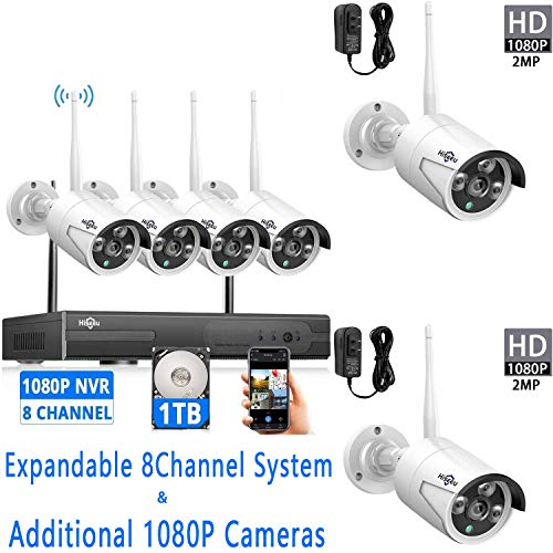 Hiseeu Wireless Security Camera System and 2Pcs...