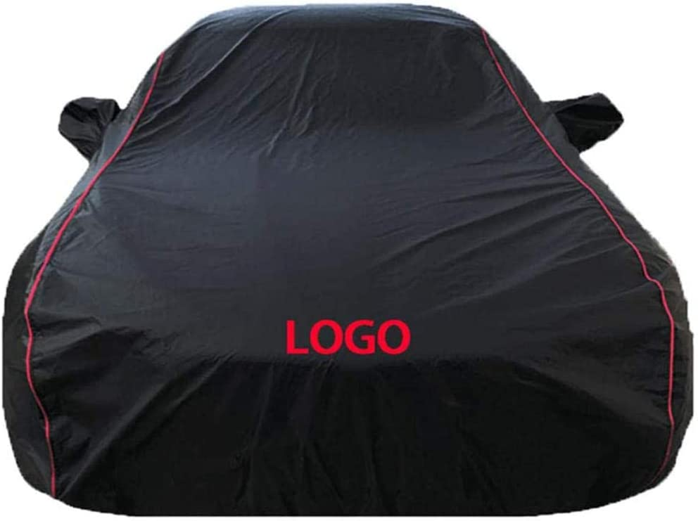 Gugb Car Cover Compatible With FIAT 124 Spider 500 500C 500L 500X 500e All Weather Waterproof Outdoor Universal Breathable Sun Protected UV Protected-Black Oxford cloth plus velvet/_124 Spider