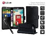 LG L90 Dual SIM D410 - Carbon Fibre Effect Folio Card Slot