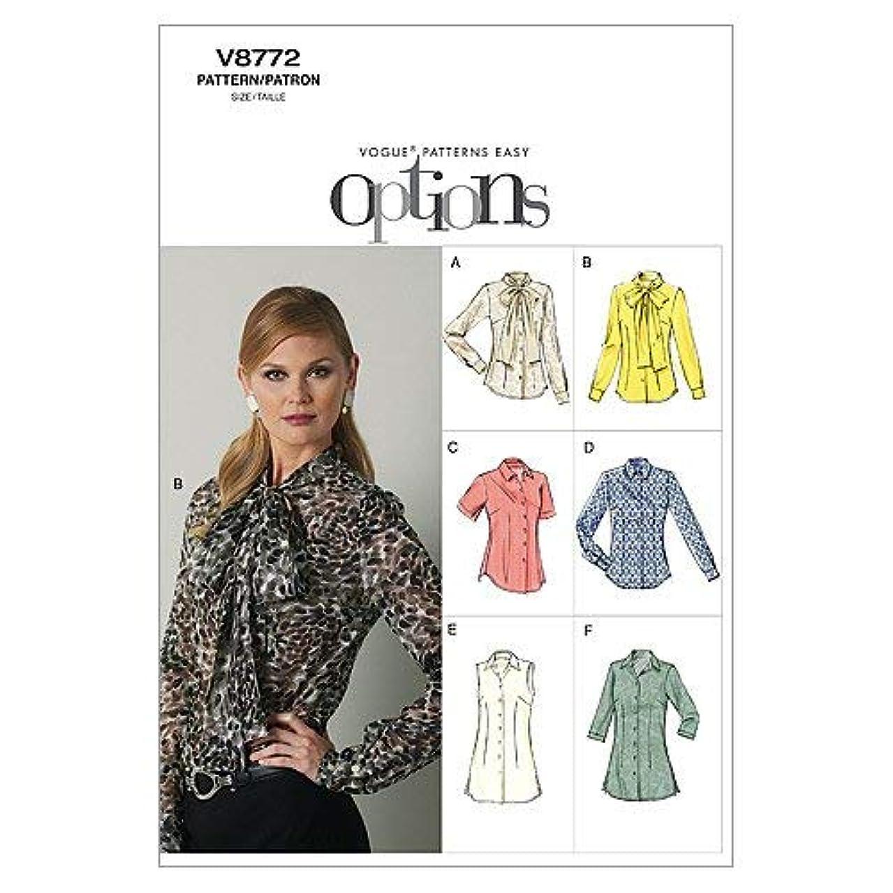 Vogue Patterns V8772 Misses' Blouse, Size A5 (6-8-10-12-14)
