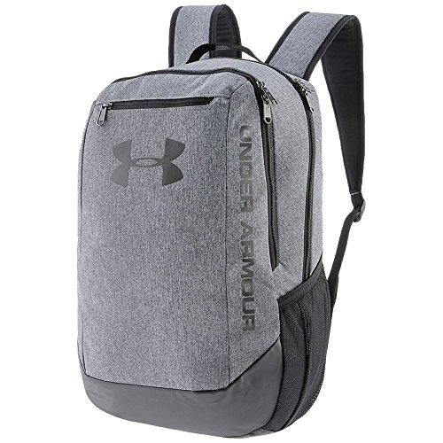 Under Armour UA Hustle Backpack Ldwr Mochila, Hombre, Gris Graphite/Black 041, Talla única
