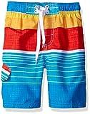 Kanu Surf Boys' Big Quick Dry UPF 50+ Beach Swim Trunk, Viper Aqua, 14/16