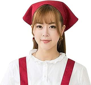 Chef Hat - Japanese Style Triangle Headscarf Waiter Kitchen Turban Cap