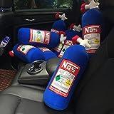Steellwingsf NOS Nitrous - Cojín de peluche creativo para coche o viaje, felpa, azul, talla única