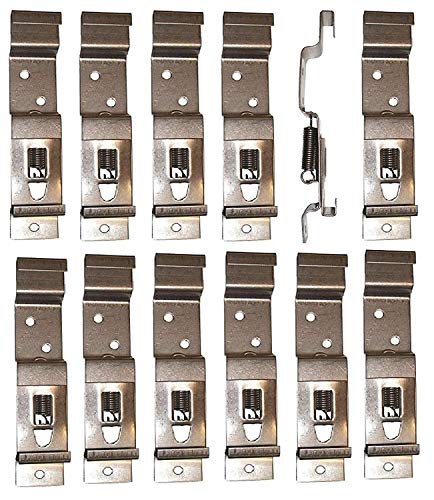BITS4REASONS 12 X (6 PAIR) TRAILER NUMBER PLATE HOLDERS CLIPS LICENSE PLATE BRACKETS STAINLESS SPRING LOADED STEEL - STANDARD UK SIZE PLATE 11CM (110MM) DEPTH