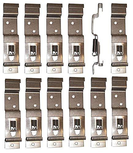 BITS4REASONS - 12 X (6 Pares) Clips DE Soporte para MATRÍCULAS DE Remolque, DE Acero Inoxidable, con Resorte - MATRÍCULA DE TAMAÑO ESTÁNDAR del Reino Unido, DE 11 CM (110 MM) DE Profundidad