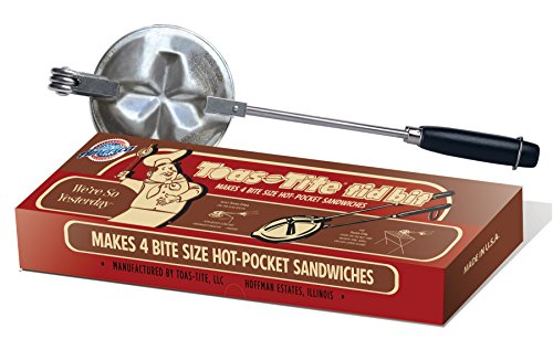 Toas-Tite Toas-Tite Tid Bit Stovetop Grill Hot-Pocket Sandwich Snack Cooker, Small, Silver
