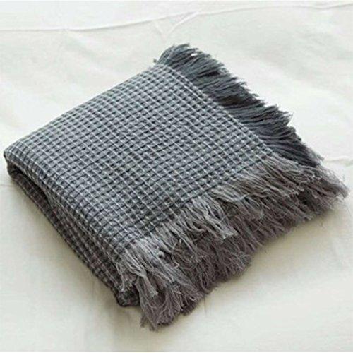 ShenZuYangShop Printless Waffle Blanket Sofa Decke Skandinavische Büro Casual Blanket Blanket (Color : Dark Gray)