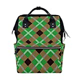 ALINLO - Bolsas de pañales para momia, color verde, marrón, de gran capacidad, multifunción, para viajes