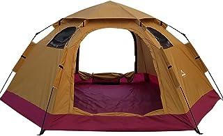 ワンタッチテント ドーム型 全3色 5人用 約3.9kg UVカット 通気性抜群 蚊帳付き 収納袋付き [並行輸入品]