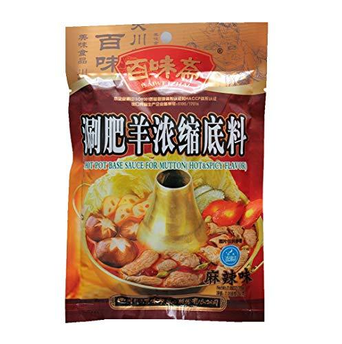 BAIWEIZHAI Würzsauce für chinesisches Fondue SCHARF 200g Seasoning Sauce for HOT POT