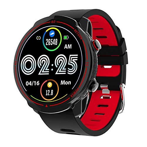 ZGZYL Rastreador De Fitness para Hombre Smartwatch para Mujer para Android iOS 1.3 Pulgadas Pantalla Táctil Reloj Bluetooth GPS Impermeable GPS Reloj De Deportes De Ritmo Cardíaco Monitor,B