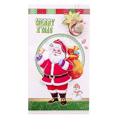 Avalita - Set di Biglietti di Auguri Natalizi con Buste, Motivo: Merry Christmas, 10 Pezzi