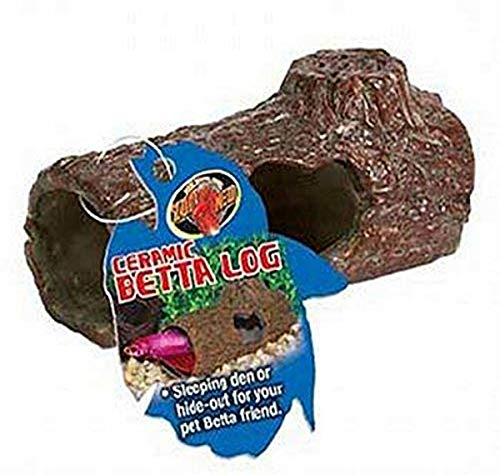 Zoo Med Laboratories AZMFA50 Sinking Ceramic Betta Log