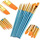 Conjunto Pinceles 10Pcs Nylon Painting Brush Set Artistas De Punta Redonda For Herramienta De Dibujo Acuarela Brush Art (Color : 10pcs Set)