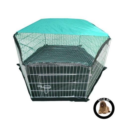 Ellie-Bo zincato Leggero Rivestimento Puppy Indoor/Outdoor Run Box con Tetto Net, 6 Pezzi