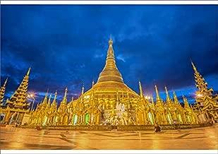 Media Storehouse A1 Poster of Shwedagon Pagoda Before Sunrise, Yangon, Myanmar (14610540)