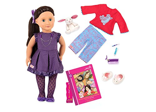 Our Generation Willow Doll, The Most Fantabulous Pajama Party Ever, Book Set