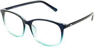 Cyxus Blue Light Filter Computer Glasses for Blocking UV Headache [Anti Eye Fatigue] Transparent Lens Black Frame, Unisex (Gradient bulish Green)