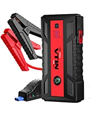 VTIN ジャンプスターター 1200A ピーク大容量 12V車用 8Lガソリンエンジン車、 6.0Lディーゼル 多車種適用 ンジンスターター4つのUSB充電ポート 15V DCポート 緊急LEDライト 非常用電源 18ヶ月保証