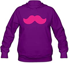 Womens SMU Mustangs Mustache Hoodie 100% Cotton