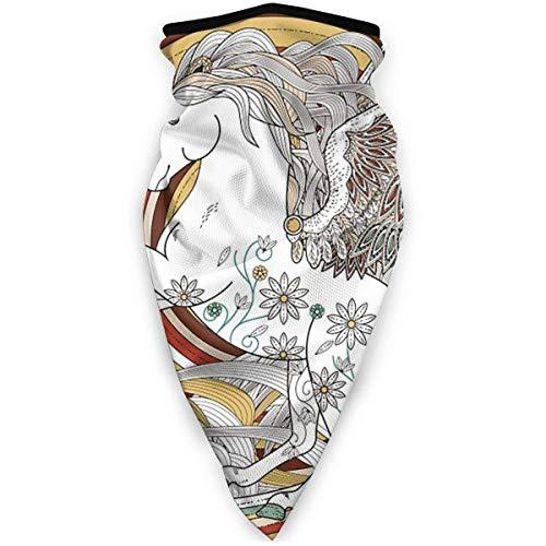 AEMAPE Fantástico Unicornio Bandanas Bufanda de Cara Cuello Polaina Bufanda de Cara Diadema Bufanda de Polvo para Hombres Mujeres Deporte al Aire Libre