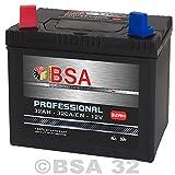 BSA Starterbatterie 32AH - 320A/EN 12Volt sehr hohe Startkraft, absolut wartungsfrei und verschlossen! PLUSPOL LINKS BSA Batterien bieten eine längere Lebensdauer gegenueber herkömmlichen Starterbatterien und eine Top Leistung in den ersten Sekunden ...
