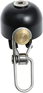 WINOMO Cykelstyre klocka säkerhet metallring högt ljud styre klockor ultra-högt MTB vägcyklar horn (svart)