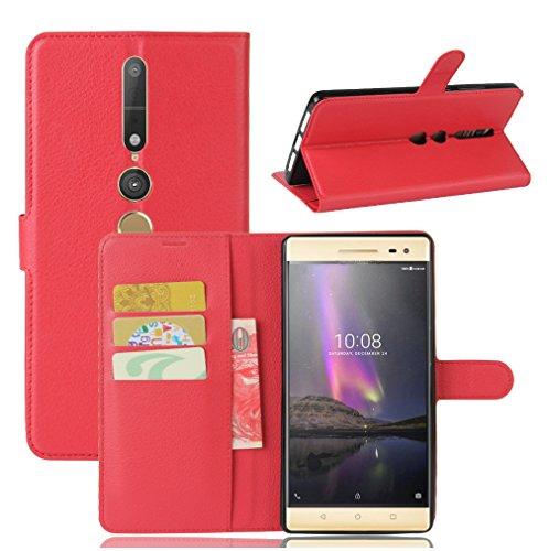 NEKOYA Lenovo PHAB 2 Pro Hülle,Lenovo PHAB 2 Pro Lederhülle, Handyhülle im Brieftasche-Stil für Lenovo PHAB 2 Pro.Schutzhülle mit [TPU Innenschale] [Standfunktion] [Kartenfach] [Magnetverschluss]