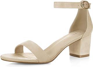 9dc1581a1 Allegra K Women s Open Toe Block Heel Ankle Strap Sandals