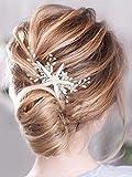 Vakkery Peine para el pelo de novia con cristales de estrás para la cabeza de estrella de mar, accesorio para el pelo de la playa, boda, para mujeres y niñas