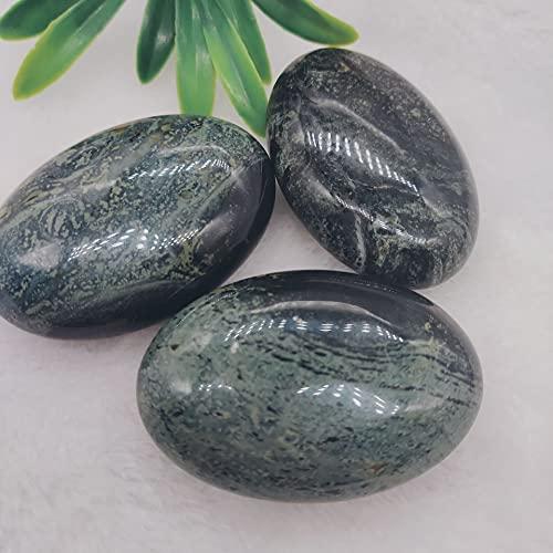 JIUXIAO PiedraNatural de la preocupación de la Palma del Jade del Ojo del Pavo Real de1Pcs