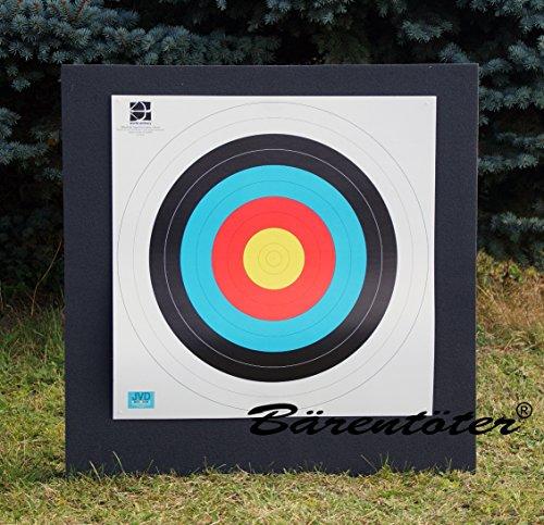 Bogenzielscheibe 80x80x10 mit Fita-Auflage Zielscheibe Bogen mit Auflage und Nägeln Scheibe Bogen