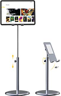 Tablet Stand Holder, Licheers iPad Holder Stand for Desk with 10X Stable Base, Adjustable Height Cell Phone Stand Compatib...