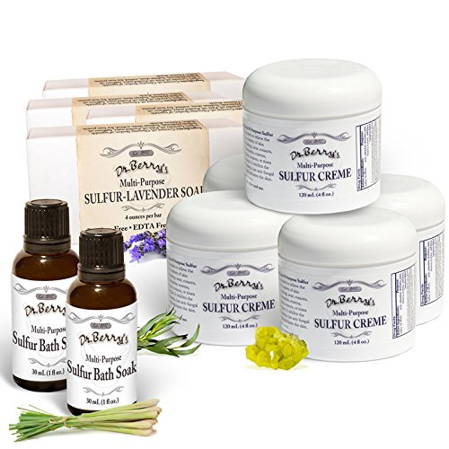 Dr. Berry's Super Sulfur Pack *Relief from Mites, Insect Bites, Acne, Fungus, Multipurpose, All Natural