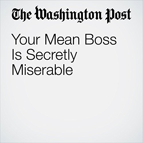 Your Mean Boss Is Secretly Miserable copertina