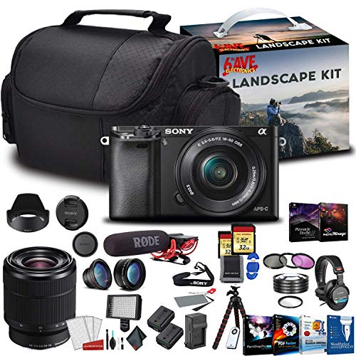Sony Alpha a6400 Mirrorless Digital Camera with 16-50mm Lens Kit with Sony FE 28-70mm f/3.5-5.6 OSS Lens and More