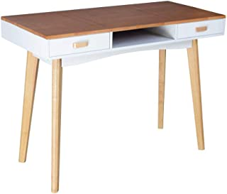Organizedlife Wooden Study Desk Computer Desk Office Work Writing Desk Table with 2 Drawers