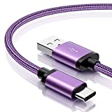 for Galaxy S9 Charger, Benicabe (2-Pack 3FT) USB Type C Samsung Adaptive Fast Charging Cable Nylon Braided Cord for Samsung Galaxy S9 Plus, S8/S8 Plus, Note 8, Note 9 and More(Lilac Purple)