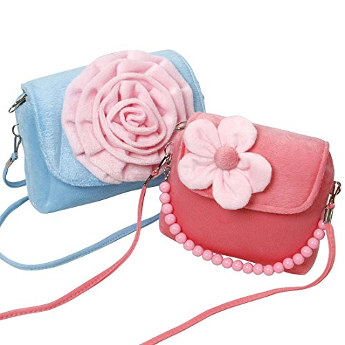 Bundle Monster Cute 2pc Little Girls Fashionable Fun Candy Colored Flower Handbag Set