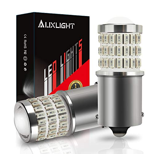 AUXLIGHT 1156 BA15S 1003 1141 7506 1156 LED Bulbs Brilliant Red, Ultra Bright 57-SMD LED Replacement for Brake/Tail Lights, Blinker Lights, Turn Signal/Parking or Running Lights (Pack of 2)