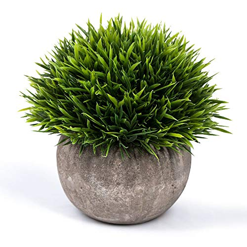 LANGING Kleine Kunstpflanze künstliche Grünpflanzen Topfpflanzen für Badezimmer Heimdekoration