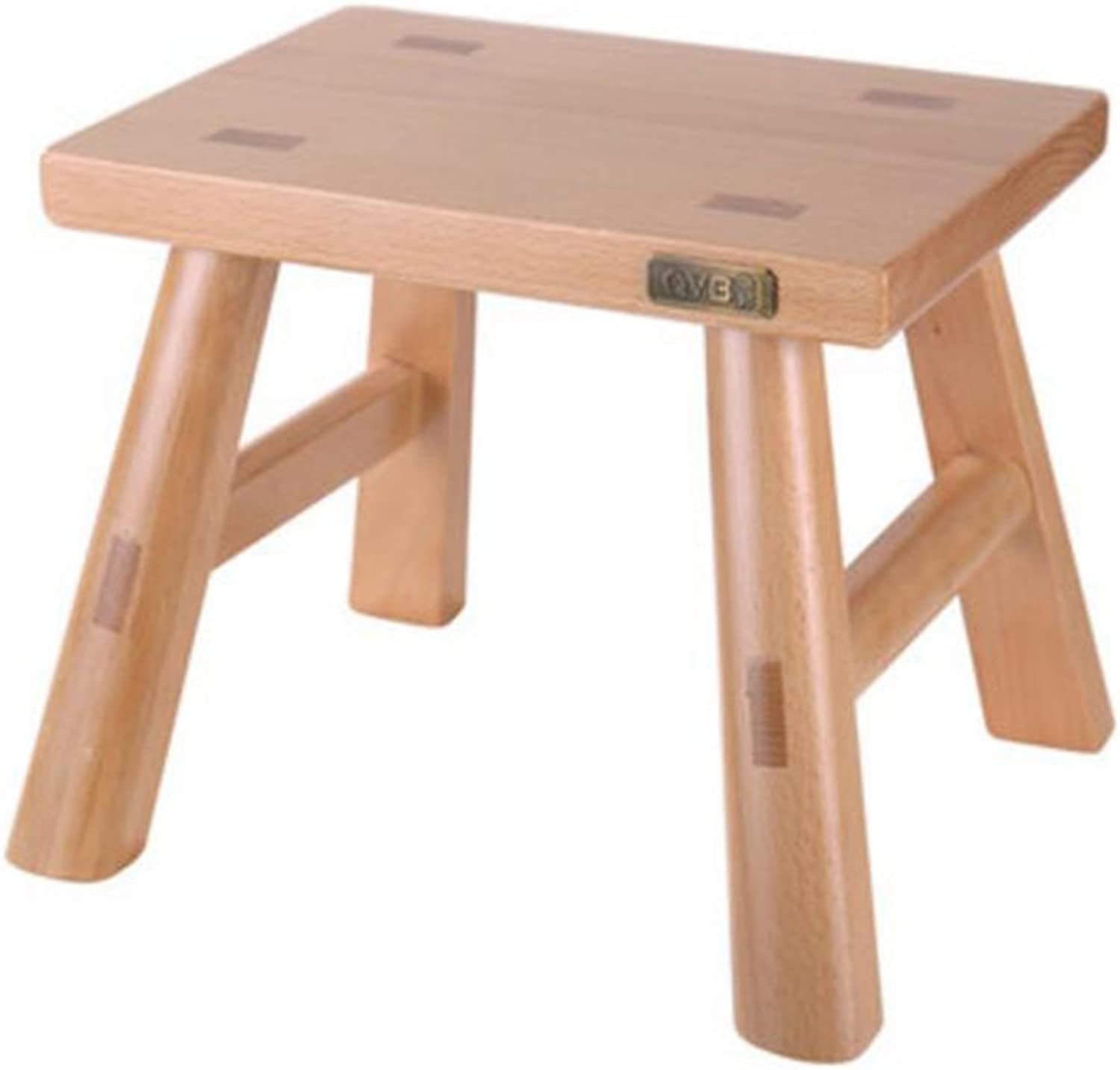 Stool Solid Wood Low Stool Change shoes Bench Living Room Sofa Stool Modern Simple Household Square Stool Wholesale Tenon Small Stool Wooden Bench Adult 28x20x24cm