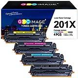 GPC Image 201X - Cartucho de tóner Compatible para HP Color Laserjet Pro MFP M277dw Pro M252dw MFP M277n Pro M252n MFP M274n (B/C/M/Y,4-Pack)