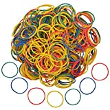 Nydotd 1000pcs Rubber Bands, Small Colorful Money Rubber Bands Bulk 2.5cm 1 inch Bank Paper Bills Dollars Elastic Stretchable Bands Strong Elastic Loop Office Supplies General Purpose Rubber Band