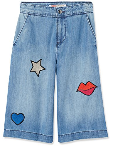 Marchio Amazon - RED WAGON Jeans Bambina con Patches, Blu (Blue), 104, Label:4 Years